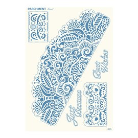 Grille parchemin motifs Tattered Lace 55 Bordures