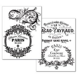 Transfert image motif vintage parfum paris