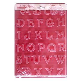 Moule décoratif thermoformé Stamperia stampo alphabet 28p