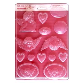 Moule silicone stampo maxi anges 14p
