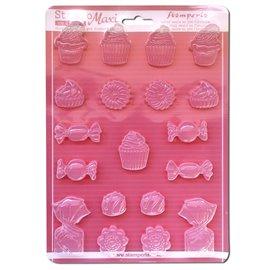 Moule décoratif thermoformé Stamperia stampo bonbons & cupcakes