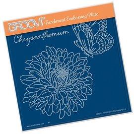 Groovi gabarit tracage parchemin fleurs chrysanthème
