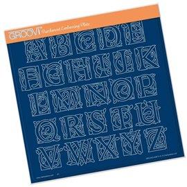Groovi gabarit traçage parchemin lettres majuscules celtique
