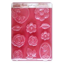 Moule décoratif thermoformé Stamperia fleur stampo roses