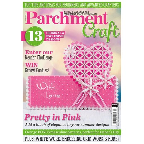 Parchment Craft magazine Pergamano juin 2018 Pretty in Pink