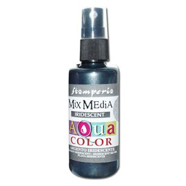 Peinture spray Mix Media Aqua color argent irisé 60ml