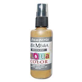 Peinture spray Mix Media Aqua color doré irisé 60ml