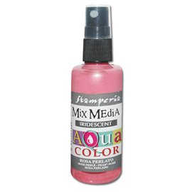 Peinture spray Mix Media Aqua color rose irisé 60ml
