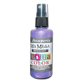 Peinture spray Mix Media Aqua color lilas irisé 60ml