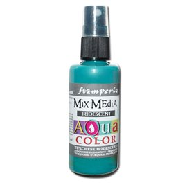 Peinture spray Mix Media Aqua color turquoise irisé 60ml