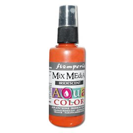 Peinture spray Mix Media Aqua color orange irisé 60ml