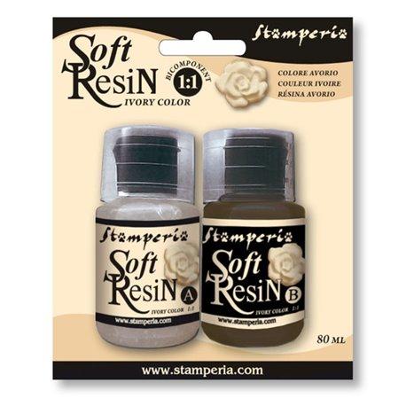 Résine Soft Resin ivoire pour moule décoratif 40ml 2p