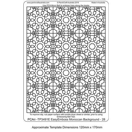 Template PCA gabarit traçage fond mosaïque 28