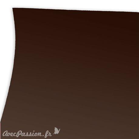 Papier uni marron imitation touché de la peau