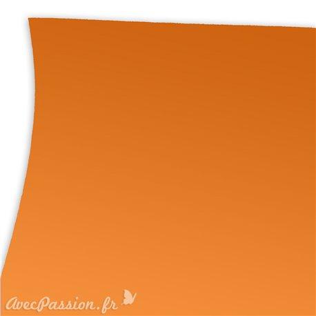Papier uni orange imitation touché de la peau