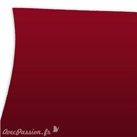 Papier uni rouge imitation touché de la peau