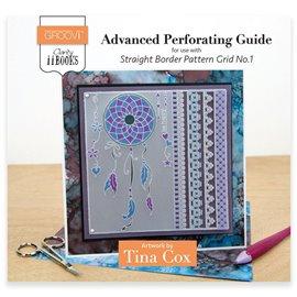 Livre Parchment Perforation avancée Groovi règle bordures droites Tina Cox