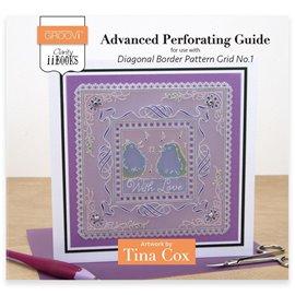 Livre Parchment Perforation Groovi régle bordures diagonales Tina Cox