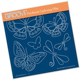 Groovi gabarit traçage parchemin papillon de Tina Cox