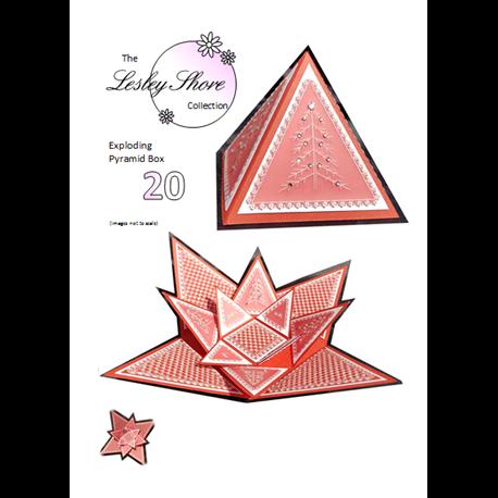Patrons Lesley Shore boîte pyramide Pergamano pattern 20