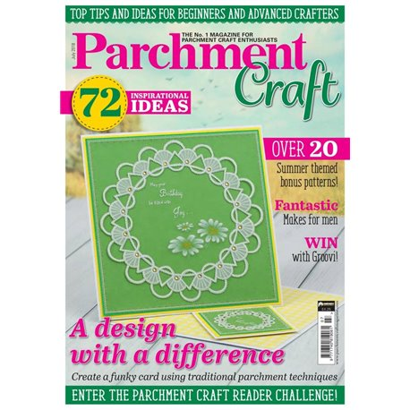 Parchment Craft magazine Pergamano juillet 2018 A Design with a difference