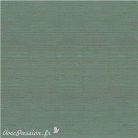 Simili imitation toile enduite texmex vert chiné