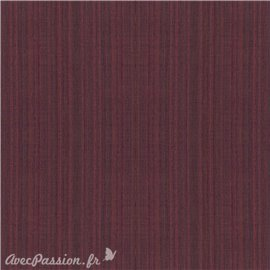 Simili imitation toile enduite texmex marron chiné bordeaux