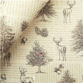 Papier tassotti à motifs les voix de le forêt
