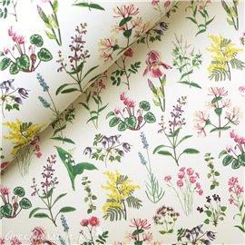 Papier tassotti à motifs fleurs vivaces