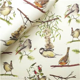 Papier tassotti à motifs oiseaux sur la branche