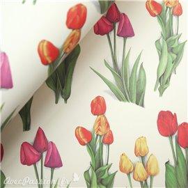 Papier tassotti à motifs fleurs tulipes
