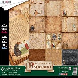 Papier scrapbooking assortiment pinocchio 8fe