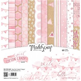 Papier scrapbooking assortiment pink cotton candy 12f 30x30
