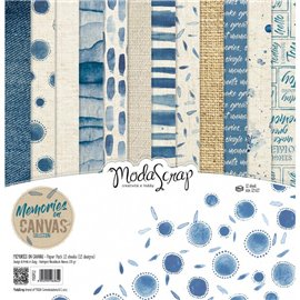 Papier scrapbooking assortiment memories on canvas 12f 30x30
