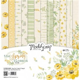 Papier scrapbooking assortiment the spring blossom 12f 30x30