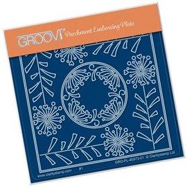 Groovi gabarit traçage parchemin fleurs Tina's allium flower