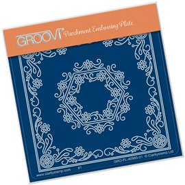 Groovi gabarit traçage parchemin fleurs Tina's hexagon flower