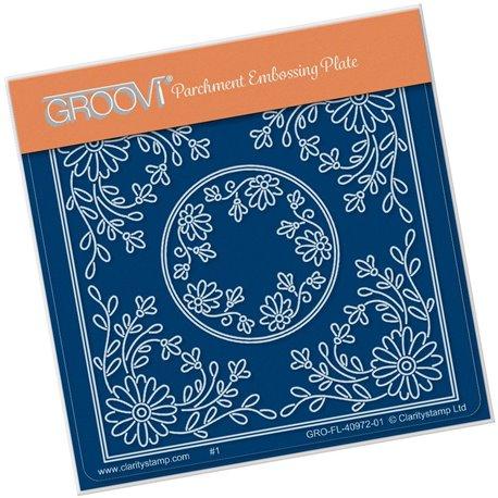 Groovi gabarit traçage parchemin fleurs Tina's daisy flower