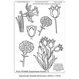 Template PCA gabarit traçage fleurs 9