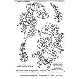Template PCA gabarit traçage fleurs 10