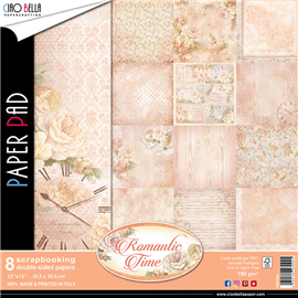 Papier scrapbooking assortiment romantic time 8fe