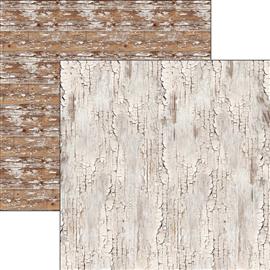 Papier scrapbooking réversible faux bois clair