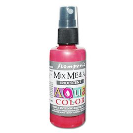 Peinture spray Mix Media Aqua color rose vif irisé 60ml
