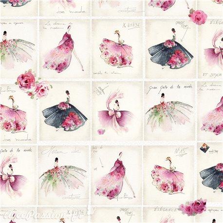 Papier italien motifs mode haute couture