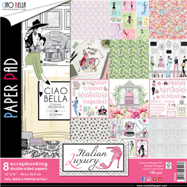 Papier scrapbooking assortiment italian luxury 8fe