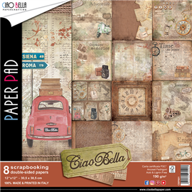 Papier scrapbooking assortiment ciao bella 8fe