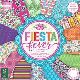 Papier scrapbooking assortiment fiesta fever bloc 48fe