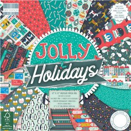 Papier scrapbooking assortiment noël jolly holidays 48fe