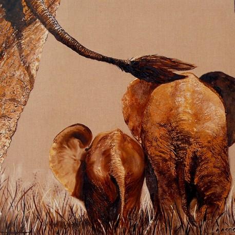 Carte postale éléphant bébés 2