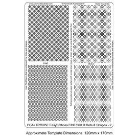 Template PCA gabarit traçage motifs fine & bold dots n°2